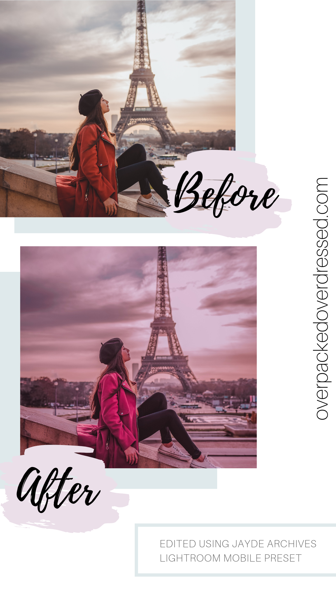 Jayde Archives Pink Presets -Before_After